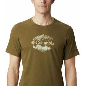 Columbia High Dune Graphic Tee Men, new olive heather